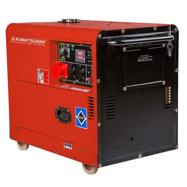 Γεννήτρια Πετρελαίου κλειστού τύπου με Μίζα ΤΡΙΦΑΣΙΚΗ 8.0kVA AVR - 13.0hp - KUMATSUGEN GP9500MAT 020936