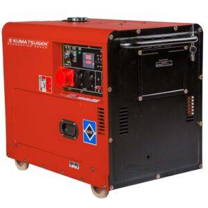 Γεννήτρια πετρελαίου κλειστού τύπου με μίζα ΜΟΝΟΦΑΣΙΚΗ 8.0kVA AVR - 13.0hp - KUMATSUGEN GP9500MA 020929