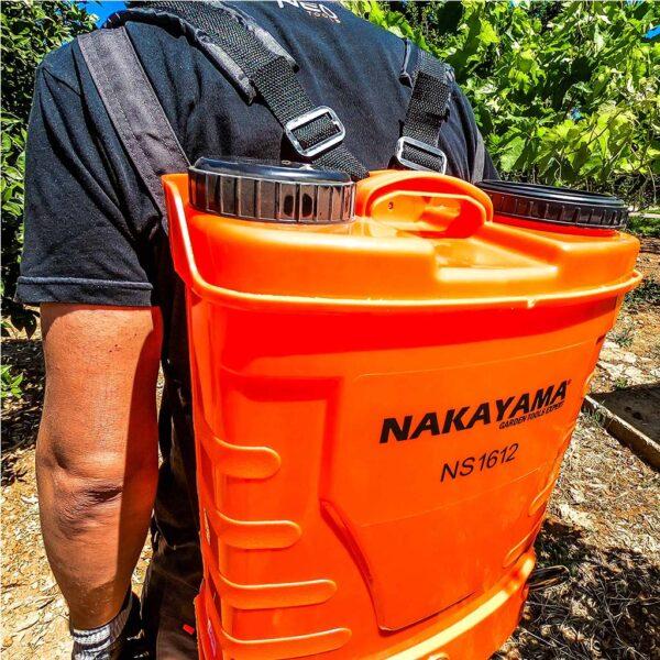 Επαναφορτιζόμενος ψεκαστήρας πλάτης 12V-16 Λίτρων NAKAYAMA NS1612 010395