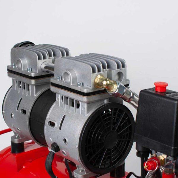 Αεροσυμπιεστής μονομπλόκ αθόρυβος χωρίς λάδι 50Lt - 2hp