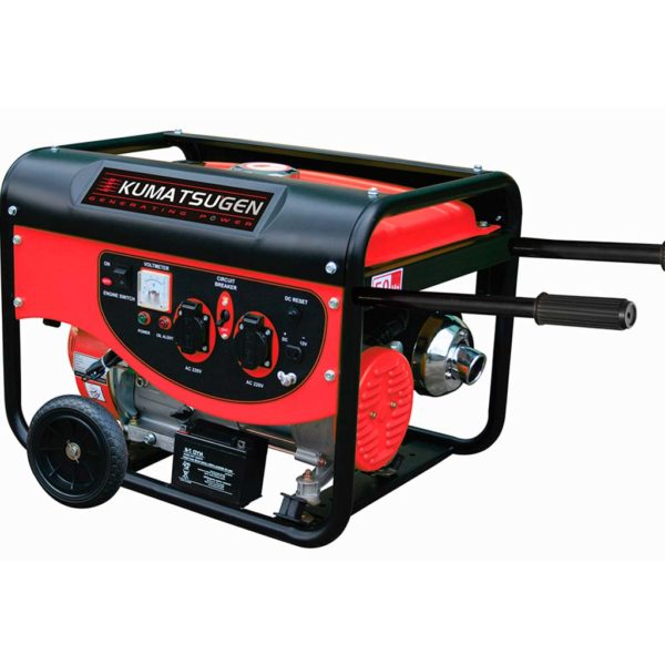 Γεννήτρια βενζίνης με ρόδες και μίζα 7.5kVA AVR - 9.0hp