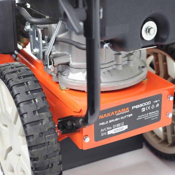 τροχήλατο τετράχρονος κινητήρας 4HP πλάτος 56 cm συμπαγείς τροχοί περιλαμβάνει κεφαλή multi