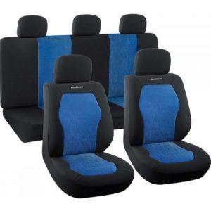 Σετ Καλύματα Αυτοκινήτου 9 τεμαχίων Πολυεστερικό - Μάυρο / Μπλε