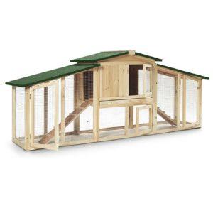 Ξύλινο Κοτέτσι - Σπίτι Μικρών Ζώων Εξωτερικού Χώρου με 2 Επίπεδα - Domi 1135