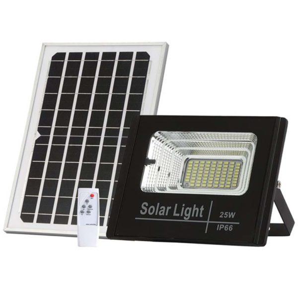 Προβολέας LED 4000Κ Αδιάβροχος με Φωτοβολταϊκό