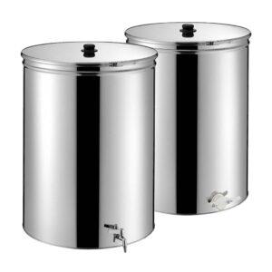 Ανοξείδωτο Δοχείο ΙΝΟΧ 250ltr με Τσέρκι Κάνουλα και Βάση Apimax 1150