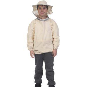 Παιδική Μελισσοκομική Μπλούζα με Μάσκα-Προσωπίδα Apimax Εκρού Φυσικό Eco Apimax 3850