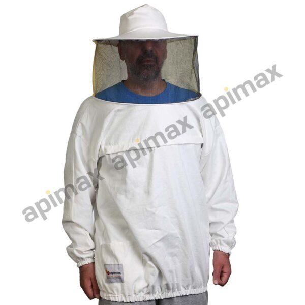 Unisex Μελισσοκομική Μπλούζα με Μάσκα-Προσωπίδα Apimax Εκρού Φυσικό Eco 3820