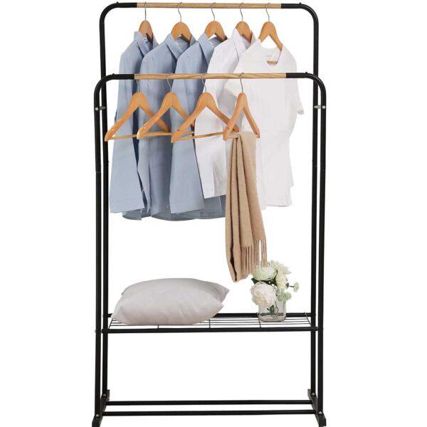 Κρεμάστρα ρούχων δαπέδου διπλή με ράφι BORMANN BPC2100 029298