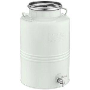 Ανοξείδωτο Δοχείο 15ltr με Αεροστεγές Πώμα 28BC-15W METALBOX Λευκό 4530