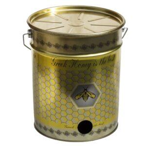 Μεταλλικός Κουβάς-Δοχείο Μελιού με τρύπα για Κάνουλα 28 kgr Apimax 4480