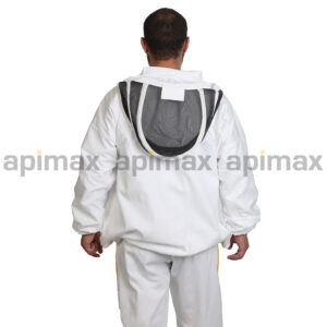 Unisex Μελισσοκομικό Μπουφάν με Μάσκα Αστρονάυτη Apimax Λευκό 3900