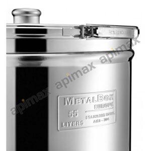 Ανοξείδωτο Δοχείο ΙΝΟΧ 110ltr με Τσέρκι Κάνουλα και Βάση Apimax 5110