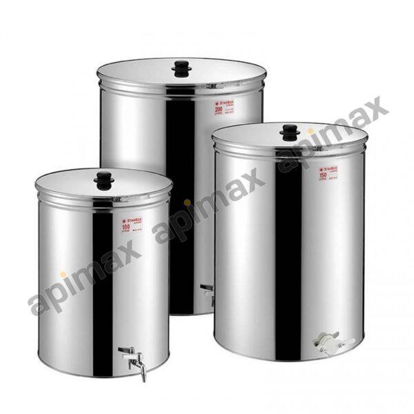 Metal Box Ανοξείδωτο Δοχείο ΙΝΟΧ Μελιού 30ltr-42kgr με Κάνουλα 38ABM-30 STARBOX 5070