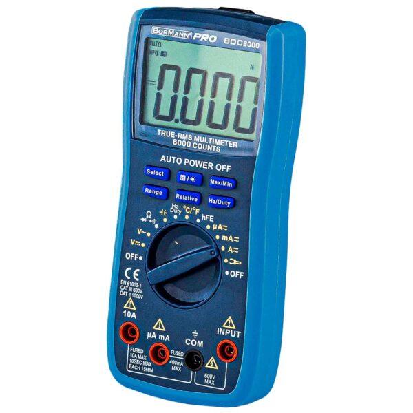 Πολύμετρο Ψηφιακό ACDC 600V - BORMANN BDC2000 028437