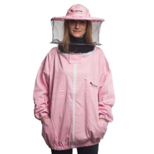 Γυναικείο Μελισσοκομικό Μπουφάν με Μάσκα-Προσωπίδα Τούλι-Τούλι Apimax Ροζ 3922