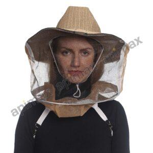 Μελισσοκομικό Καπέλο Μάσκα-Προσωπίδα COWBOY STYLE One Size Apimax 3838