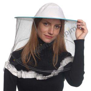 Μελισσοκομικό Καπέλο Μάσκα-Προσωπίδα One Size Apimax Λευκό