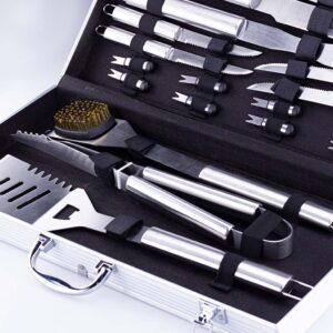 Σετ εργαλεία BBQ 16 τεμαχίων σε Inox σε Βαλίτσα - BORMANN BBQ1015 033349