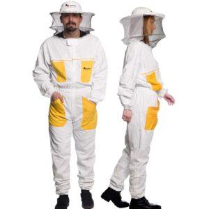 Unisex Μελισσοκομική Ολόσωμη Φόρμα με ΜάσκαΚαπέλο Apimax 3848