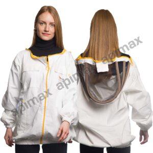 Unisex Μελισσοκομικό Μπουφάν με Μάσκα Αστροναύτη Apimax Λευκό 3923